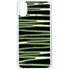 Sketched Wavy Stripes Pattern Apple Iphone X Seamless Case (white) by dflcprints
