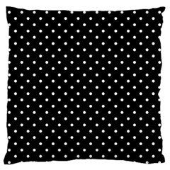 Black Polka Dots Standard Flano Cushion Case (two Sides) by jumpercat