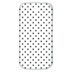 White Polka Dots Samsung Galaxy S3 S Iii Classic Hardshell Back Case by jumpercat