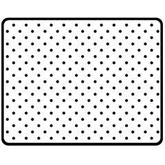 White Polka Dots Double Sided Fleece Blanket (medium)  by jumpercat