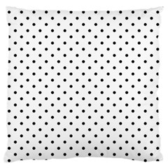 White Polka Dots Standard Flano Cushion Case (two Sides) by jumpercat