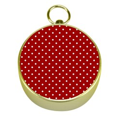 Red Polka Dots Gold Compasses by jumpercat