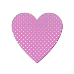 Pink Polka Dots Heart Magnet by jumpercat