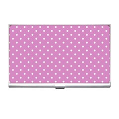 Pink Polka Dots Business Card Holders by jumpercat