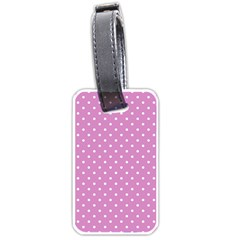 Pink Polka Dots Luggage Tags (two Sides) by jumpercat