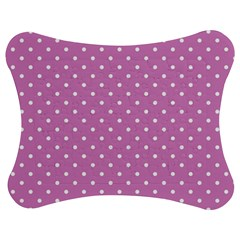 Pink Polka Dots Jigsaw Puzzle Photo Stand (bow) by jumpercat