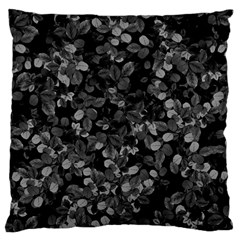 Dark Leaves Large Cushion Case (one Side) by jumpercat