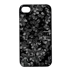 Dark Leaves Apple Iphone 4/4s Hardshell Case With Stand by jumpercat