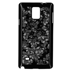 Dark Leaves Samsung Galaxy Note 4 Case (black) by jumpercat