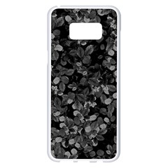 Dark Leaves Samsung Galaxy S8 Plus White Seamless Case by jumpercat
