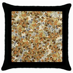 Leaves Autumm Throw Pillow Case (black) by jumpercat