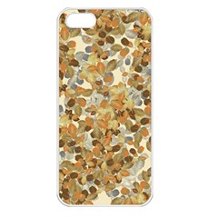 Leaves Autumm Apple Iphone 5 Seamless Case (white) by jumpercat
