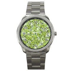 Leaves Fresh Sport Metal Watch by jumpercat