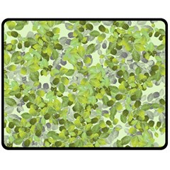 Leaves Fresh Fleece Blanket (medium)  by jumpercat