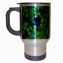 Moonlight On The Leaves Travel Mug (silver Gray) by jumpercat
