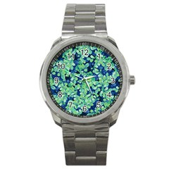 Moonlight On The Leaves Sport Metal Watch by jumpercat