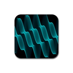 Background Light Glow Blue Green Rubber Square Coaster (4 Pack)  by Nexatart