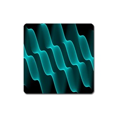 Background Light Glow Blue Green Square Magnet