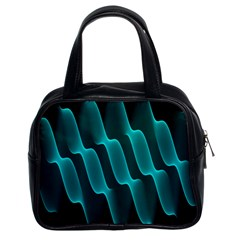 Background Light Glow Blue Green Classic Handbags (2 Sides)