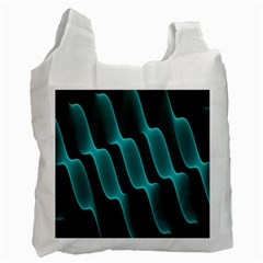 Background Light Glow Blue Green Recycle Bag (two Side)