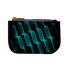 Background Light Glow Blue Green Mini Coin Purses