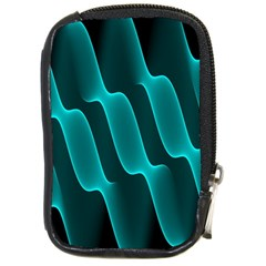 Background Light Glow Blue Green Compact Camera Cases by Nexatart