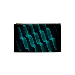 Background Light Glow Blue Green Cosmetic Bag (small)