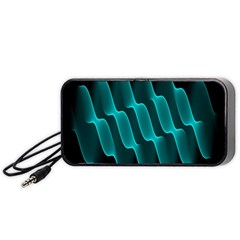 Background Light Glow Blue Green Portable Speaker