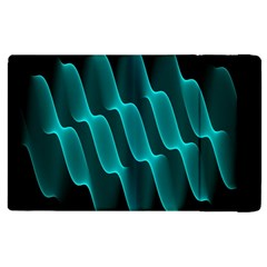 Background Light Glow Blue Green Apple Ipad 2 Flip Case by Nexatart