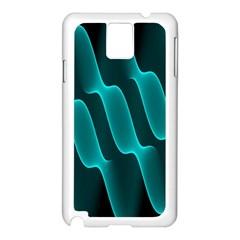 Background Light Glow Blue Green Samsung Galaxy Note 3 N9005 Case (white)