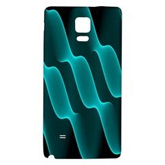 Background Light Glow Blue Green Galaxy Note 4 Back Case