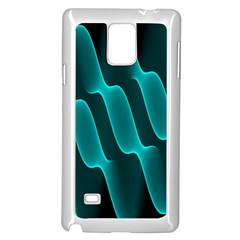 Background Light Glow Blue Green Samsung Galaxy Note 4 Case (white) by Nexatart