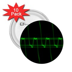 Background Signal Light Glow Green 2 25  Buttons (10 Pack)
