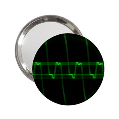 Background Signal Light Glow Green 2 25  Handbag Mirrors