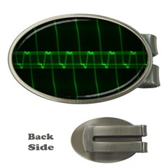 Background Signal Light Glow Green Money Clips (oval)