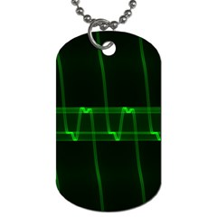Background Signal Light Glow Green Dog Tag (two Sides)