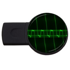 Background Signal Light Glow Green Usb Flash Drive Round (2 Gb)