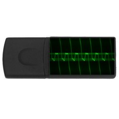 Background Signal Light Glow Green Rectangular Usb Flash Drive