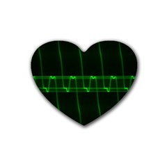 Background Signal Light Glow Green Heart Coaster (4 Pack)