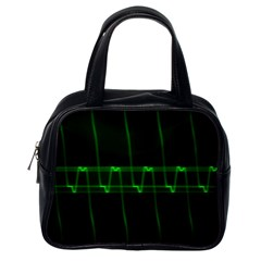 Background Signal Light Glow Green Classic Handbags (one Side)