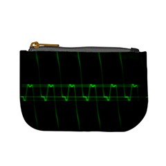 Background Signal Light Glow Green Mini Coin Purses