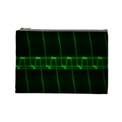 Background Signal Light Glow Green Cosmetic Bag (large)