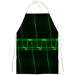 Background Signal Light Glow Green Full Print Aprons