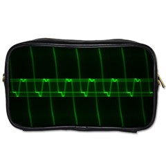 Background Signal Light Glow Green Toiletries Bags 2 Side