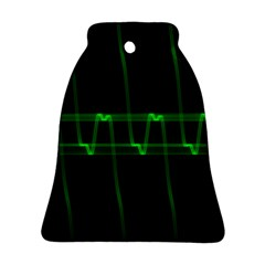 Background Signal Light Glow Green Bell Ornament (two Sides)