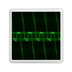 Background Signal Light Glow Green Memory Card Reader (square)