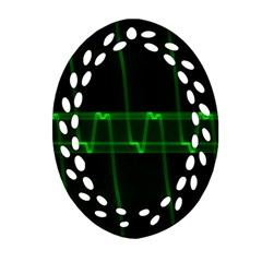 Background Signal Light Glow Green Ornament (oval Filigree)