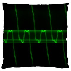 Background Signal Light Glow Green Large Cushion Case (one Side)