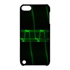 Background Signal Light Glow Green Apple Ipod Touch 5 Hardshell Case With Stand