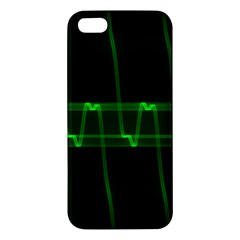 Background Signal Light Glow Green Apple Iphone 5 Premium Hardshell Case